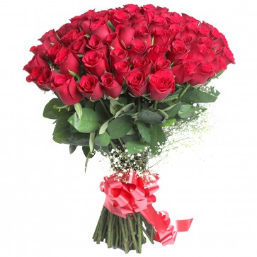 Hand Bunch of 75 Red Roses