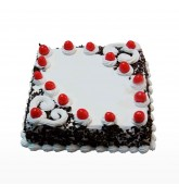 Square Shape Blackforest Cake