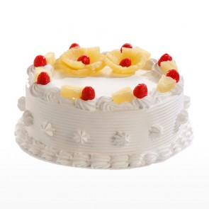 Round Shape Pineapple Cake