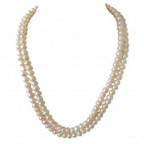 2 Line Real Big Freshwater Pearl Necklace