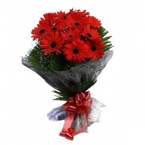 Bouquet of 12 Red Gerberas