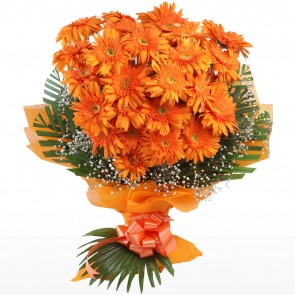 Bouquet of 25 Orange Gerberas