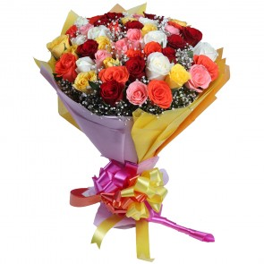 Bouquet of 50 Mix Roses