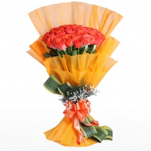 Bouquet of 3 Dozen Orange Roses