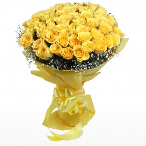 Bouquet of 50 Yellow Roses