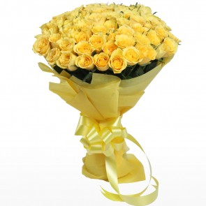 Bouquet of 75 Yellow Roses