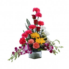 Premium Vase arrangement of 22 mix flowers