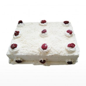 Square White Forest Cake