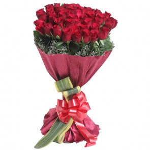 Bouquet of 50 Red Roses
