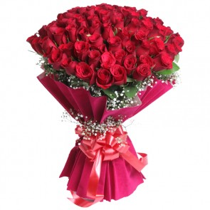 Bouquet of 75 Red Roses