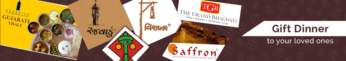 Restaurant Gift Vouchers to Ahmedabad